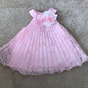 New! Baby Girl Pink Lace Dress